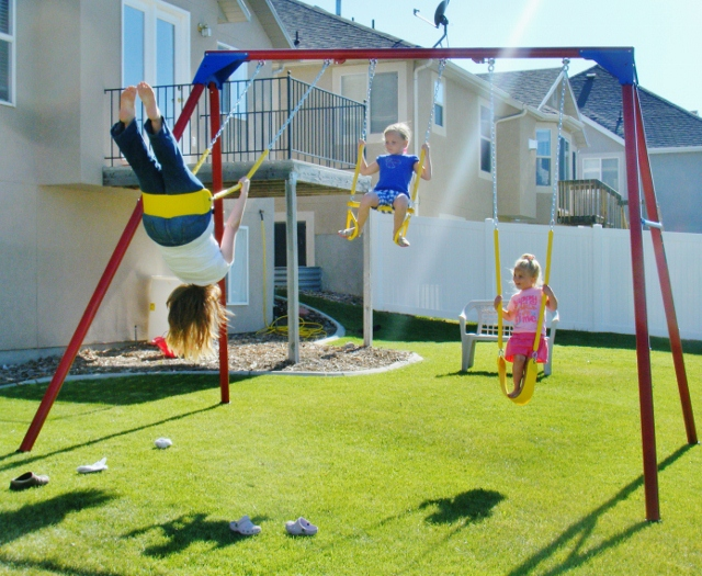 How to swing on a swing set for Diy adult swing set