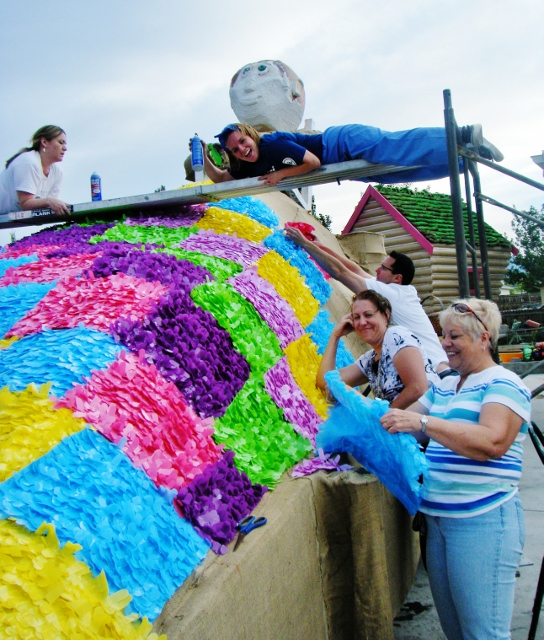 Who knew working on a parade float would lead to writing an article published in a large newspaper.  You never know what might happen when you start having a little fun.