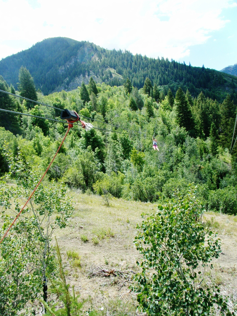 Great Utah Outdoor adventures ziplines in Provo Canyon