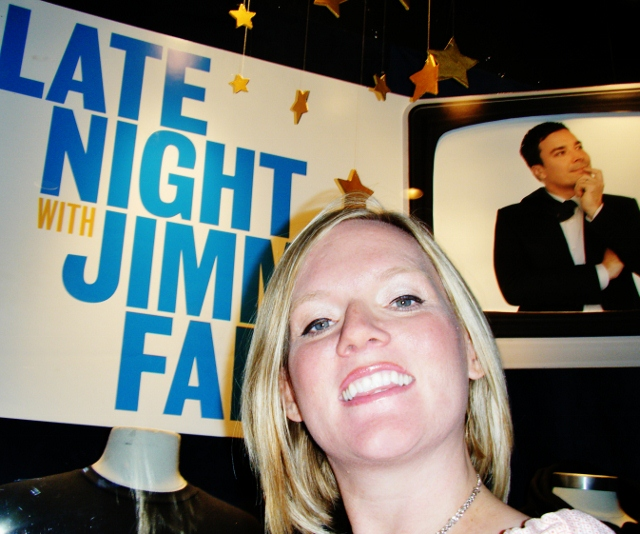 Since no cameras were allowed in the studio, this is the best I could do for a photo with Jimmy Fallon.