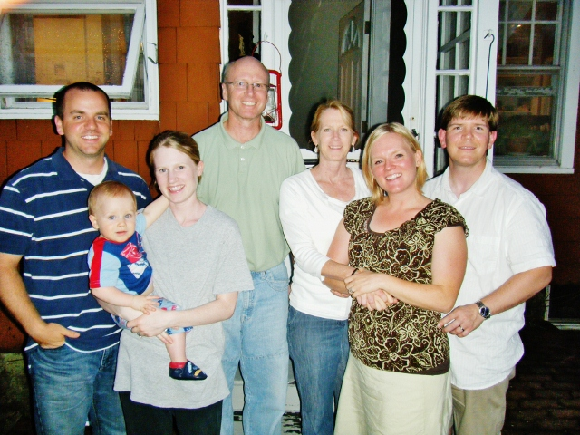Here's me and Steve with the all Mormon McGreevy Family (minus one, where are you Ryan???).
