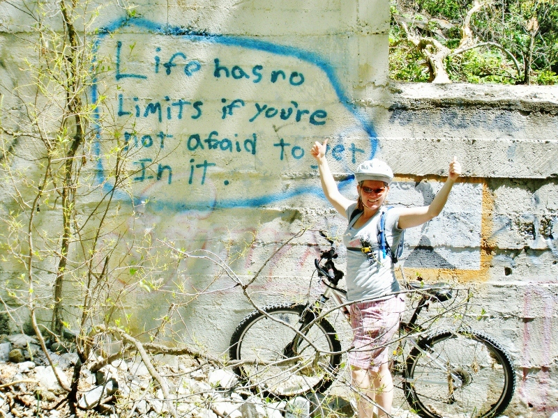We found this on a family bike ride up Provo Canyon.  I swear I didn't write this graffiti although I do concur.
