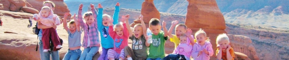 Moab has to be my #1 pick for extended family vacations.  I'll never forget how much fun it was to march all these kids three miles up and back to see the Delicate Arch.  It was a lot of work but TOTALLY worth it.