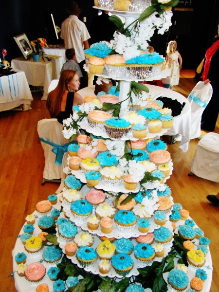 beautiful cupcake towers